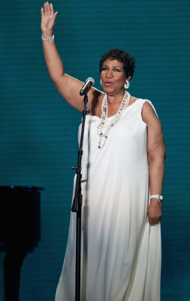 CHICAGO, IL - MAY 17: Aretha Franklin performs during Surprise Oprah! A Farewell Spectacular at the United Center on May 17, 2011 in Chicago, Illinois. (Photo by Daniel Boczarski/Getty Images)