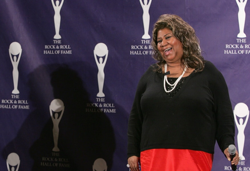 NEW YORK - MARCH 12:  Presenter Aretha Franklin answers questions in the press room at the 22nd annual Rock And Roll Hall Of Fame Induction Ceremony at the Waldorf Astoria Hotel March 12, 2007 in New York City.  (Photo by Peter Kramer/Getty Images)