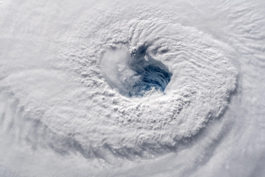 IN SPACE - SEPTEMBER 12:  In this satellite image provided by the National Aeronatics and Space Administration (NASA) and European Space Agency (ESA), Hurricane Florence churns through the Atlantic Ocean toward the U.S. East Coast on September 12, 2018. Florence slowed its approach to the U.S. today and was expected to turn south, stalling along the  North Carolina and South Carolina coast and bringing with it torrential rain, high winds and a dangerous storm surge tomorrow through Saturday. The image was captured by ESA astronaut Alexander Gerst, currently living and working onboard the International Space Station.  (Photo by ESA/NASA via Getty Images)
