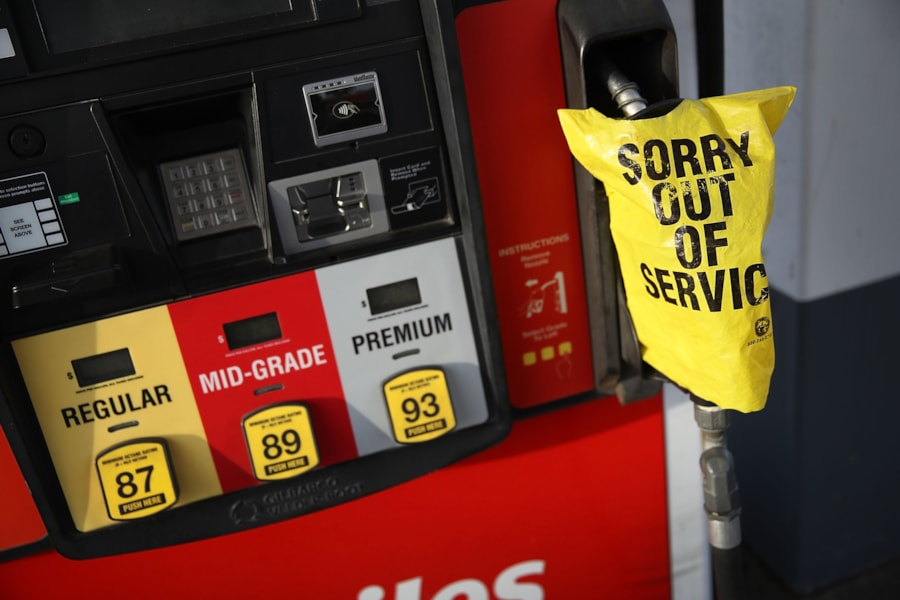 MYRTLE BEACH, SC - SEPTEMBER 12:  A sign reading, 'Sorry out of Service,' to cover a gas pump that ran out of gas  ahead of the arrival of Hurricane Florence on September 12, 2018 in Myrtle Beach, United States. Hurricane Florence is expected on Friday possibly as a category 4 storm along the Virginia, North Carolina and South Carolina coastline.  (Photo by Joe Raedle/Getty Images)