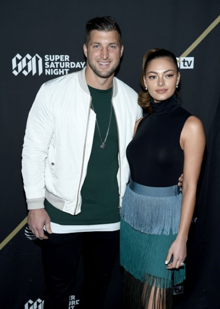 ATLANTA, GA - FEBRUARY 02:  Tim Tebow and Demi-Leigh Nel-Peters attend DIRECTV Super Saturday Night 2019 at Atlantic Station on February 2, 2019 in Atlanta, Georgia.  (Photo by Dimitrios Kambouris/Getty Images for DIRECTV)