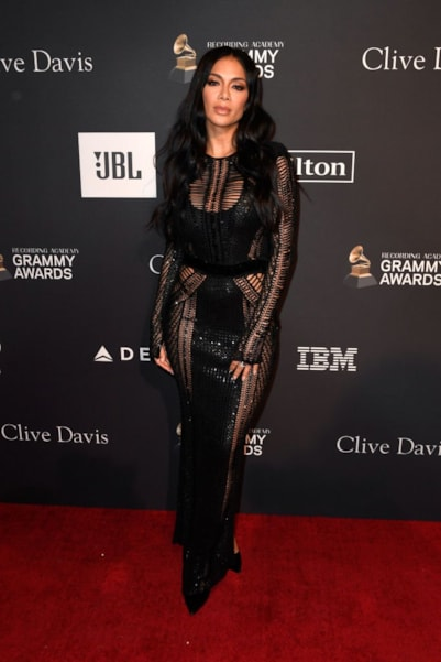 BEVERLY HILLS, CA - FEBRUARY 09:  Nicole Scherzinger attends the Pre-GRAMMY Gala and GRAMMY Salute to Industry Icons Honoring Clarence Avant at The Beverly Hilton Hotel on February 9, 2019 in Beverly Hills, California.  (Photo by Frazer Harrison/Getty Images for NARAS)