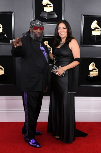 LOS ANGELES, CALIFORNIA - FEBRUARY 10: George Clinton and guest attend the 61st Annual GRAMMY Awards at Staples Center on February 10, 2019 in Los Angeles, California. (Photo by Jon Kopaloff/Getty Images)