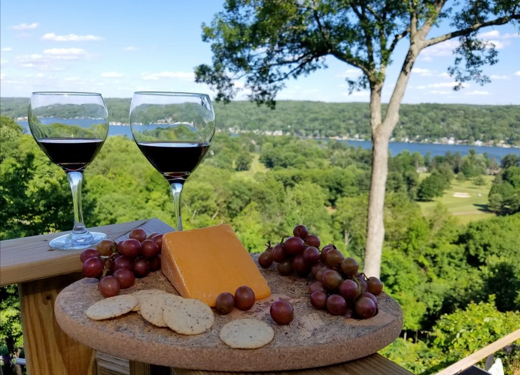 Wine and cheese on the Finger Lakes